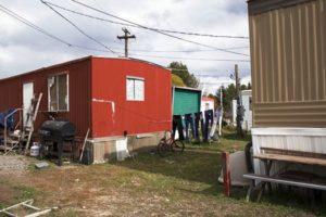 A mobile home at Arrowhead Village.