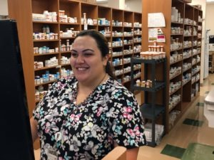 Crystal Apodaca, Certified Pharmacy Technician, fills prescriptions at North Country's Flagstaff 4th Street location.